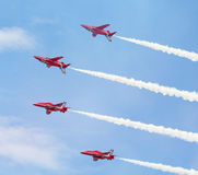 Red Arrows Royal Air Force Aerobatic Display above Tallinn Bay at 23.06.2014 Stock Images