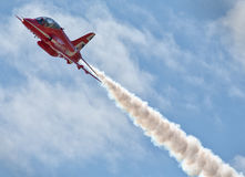 Red Arrows. The Royal Air Force Aerobatic Team, the Red Arrows, is one of the world's premier aerobatic display teams Royalty Free Stock Photo