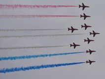 Red Arrows. At Southport Airshow Royalty Free Stock Images