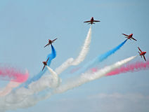 Red arrows stunt team Royalty Free Stock Photo