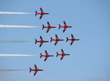 Red arrows stunts Stock Image
