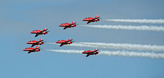 Red arrows stunts Stock Images
