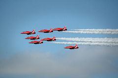 Red arrows stunts Royalty Free Stock Images