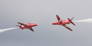 Red Arrows Synchro Pair Stock Image