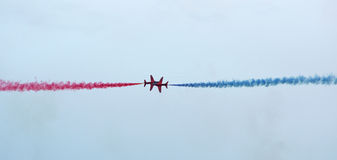 The Red Arrows synchro pair Stock Photography