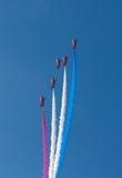 Red Arrows teamwork Weston Air Festival Weston-s-Mare Somerset Stock Photos