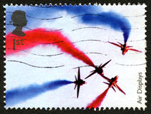 Red Arrows UK Postage Stamp Royalty Free Stock Photo