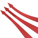 Red arrows up Stock Photo