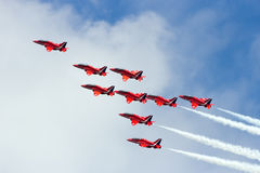 Red Arrows airshow Stock Image