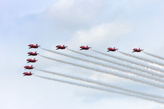 Airshow Red Arrows  Royalty Free Stock Photography
