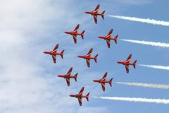The Red Arrowsdisplay team. stock images