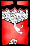 Red, Art, Text, Font