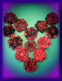 Red artificial flowers Royalty Free Stock Photography