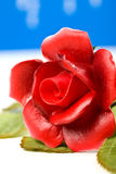 Red artificial glass rose Royalty Free Stock Photo