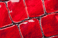 Red artificial leather Royalty Free Stock Photography
