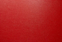 Red artificial leather texture Royalty Free Stock Image