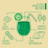 Red Arugula,green juice recipes great detoxify Royalty Free Stock Image