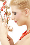 Red ashberry girl Stock Images