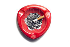 Red Ashtray Royalty Free Stock Image