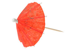 Red asian cocktail umbrella Stock Photos