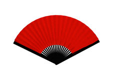 Red Asian Fan Royalty Free Stock Photo
