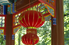 Red asian lantern Stock Image