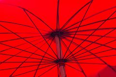 Red asian umbrella Stock Photo