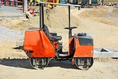 Red asphalt paver Stock Image