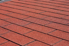 Red asphalt shingles Stock Photography