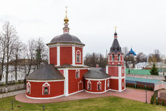 Red Assumption Church in Suzdal Stock Images