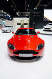 Red Aston martin sport car. Royalty Free Stock Image