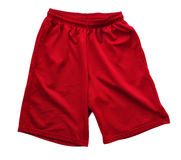 Red Athletic Shorts Royalty Free Stock Photos