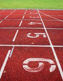Red athletic track Royalty Free Stock Images