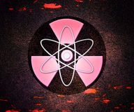 Red Atom Radioactive Background Royalty Free Stock Images