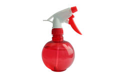 Red atomizer. On the white background royalty free stock photography