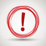 Red attention Royalty Free Stock Images