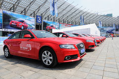 Red audi Royalty Free Stock Photos