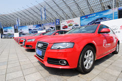 Red audi Stock Photography