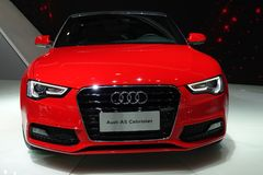 Red Audi a5 Cabriolet. Chengdu Motor Show,China Stock Image