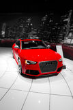 Red Audi Coupe. On the showroom of the Los Angeles International Auto Show Stock Image