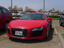 Red Audi R8 V8 FSi coupe in Chorrillos, Lima Stock Photos