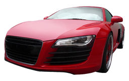 Red Audi R8. Isolated on white background Stock Photography