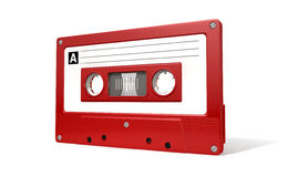 Red Audio Cassette Tape Royalty Free Stock Photo