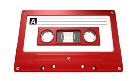 Red Audio Cassette Tape Royalty Free Stock Images