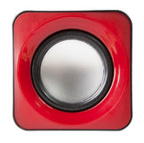 red audio speaker isolated on white Stock Photos
