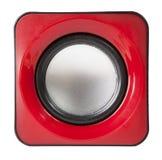 red audio speaker isolated on white Stock Photos