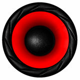 Red audio speaker Royalty Free Stock Image