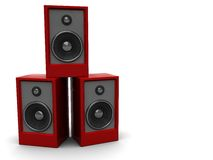 Red audio speakers Royalty Free Stock Photos