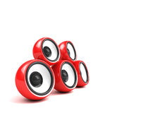 Red audio system Stock Photos
