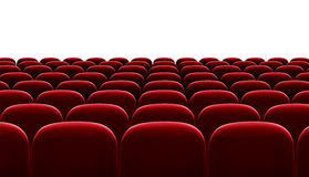 Red auditorium chairs isolated Royalty Free Stock Image